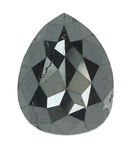 2.00 Ct Natural Loose Diamond Pear Black Color I3 Clarity 8.50 MM MJ24