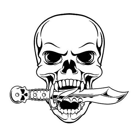 Calavera de Halloween Daga Etiqueta de la Serpiente Punk ...
