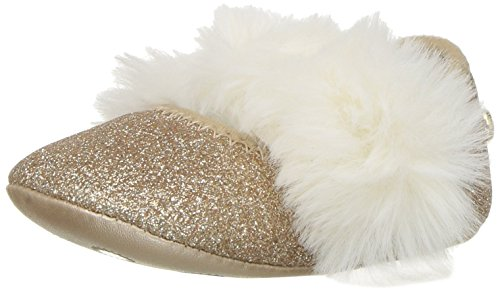 UGG Girls' I Fluff Glitter Ballet Flat, Gold, 2/3 M US Infant -