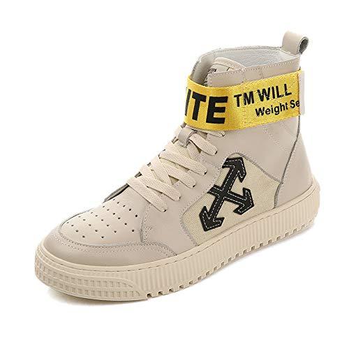 Board Uomo Stivaletti Beige Sneakers Casual Piatto Shoes Tacco da AqaSwRaY
