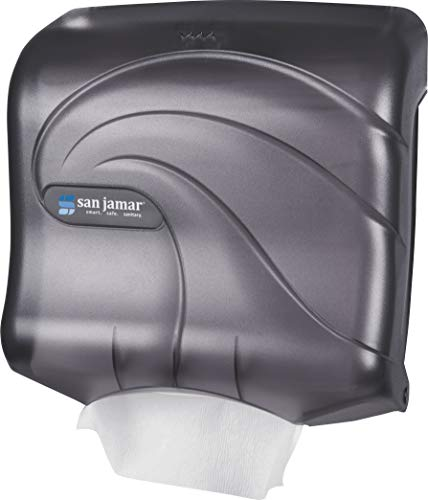 (San Jamar T1759TBK Ultrafold Multifold/C-Fold Towel Dispenser, Oceans, Black Pearl)