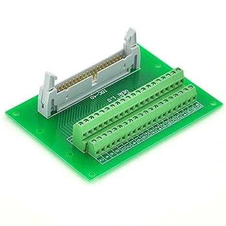 Electronics-Salon IDC40 2 x 20 Pins 0,3 cm Stecker Header Breakout Board TERMINAL BLOCK Stecker.
