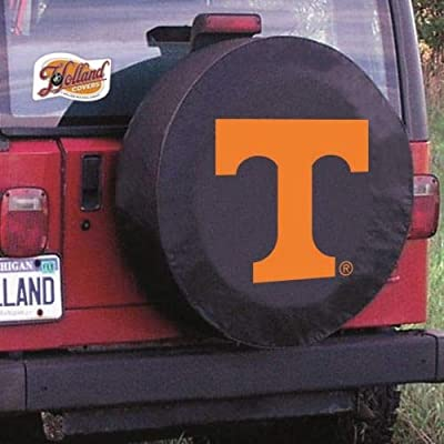 HBS Tennessee Tire Cover with Volunteers Logo on Black Vinyl