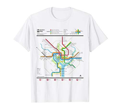 Washington DC Metro Map Silver Line T-Shirt