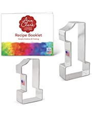 """Ann Clark Cookie Cutters Number One / #1 Cookie Cutter Set - 2 Piece - 3.4"""" & 4.4"""" - USA Made Steel"""