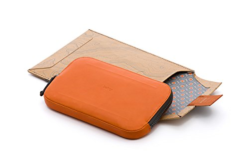 Bellroy Leder Geldbörse All Conditions Essentials Pocket, Farbe: Black Burnt Orange