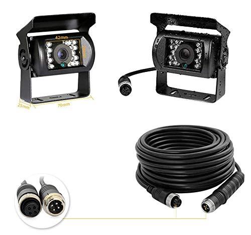 Backup Camera Camecho IR Nachtzicht Waterdichte Omkerende Camera + 10M 4 Pins Kabel Kit voor Auto Bus Truck Caravan…