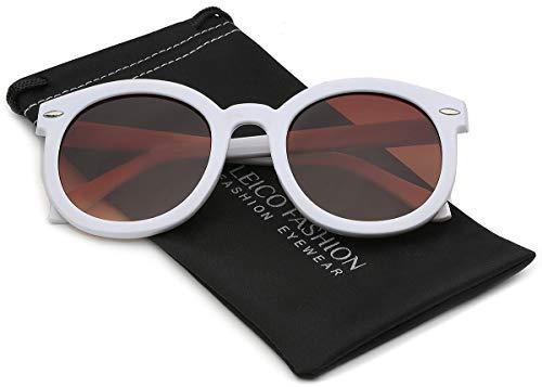 Vintage Retro 80's Round Frame Women's Fashion Sunglasses -
