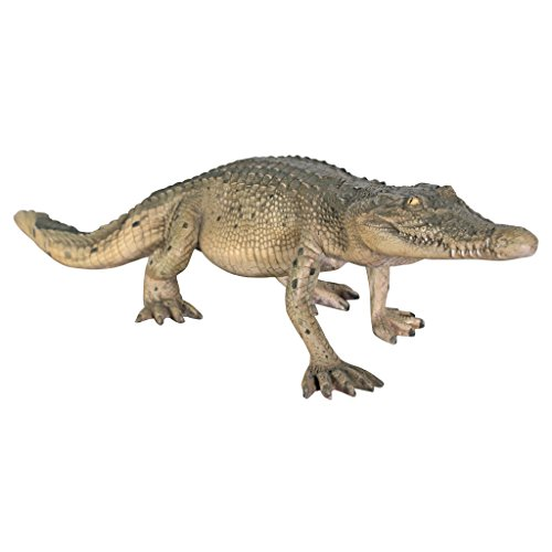 Design Toscano The Grand-Scale Wildlife Animal Collection: The Walking Crocodile Statue (Wildlife Animal Scale Grand)