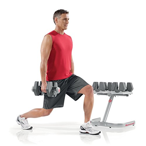 Universal PowerPak Adjustable Dumbbells with Stand - 4-45 lbs.