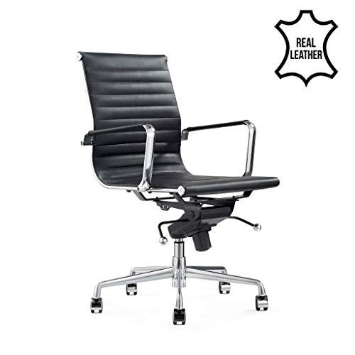 IVOL Piel de Oficina Silla Valencia–Negro–100% Piel
