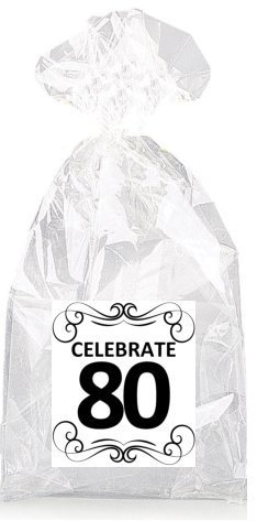 Image Unavailable Not Available For Color Elegant Celebrate 80th Birthday Party Favor Bags
