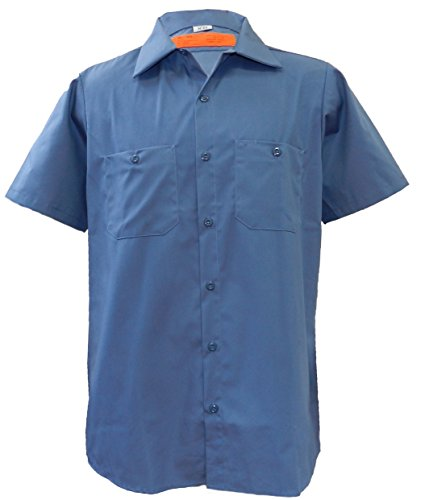 Solar 1 Clothing MS24 Industrial Short Sleeve Work Shirt, Postman Blue, XX-Large (Industrial Protective Clothing)