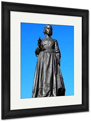 Florence Nightingale, Wall Art Home Decoration, Color, 35x30 (frame size), Black Frame, AG5404555 (Florence Framed)