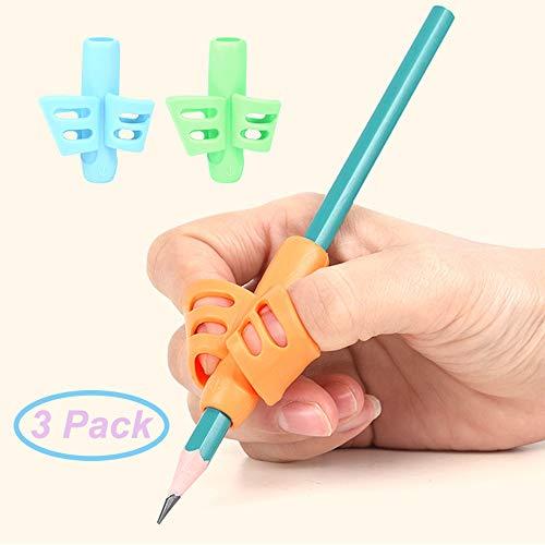 (Pencil Grips - Children Pen Writing Aid Grip Set Posture Correction Tool for Kids Preschoolers Children,Hollow Ventilation (Pencil Grips 3P))