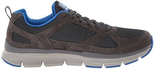 Skechers 51551 Sneakers Man Fabric Charcoal/Blue JBYwQoZ