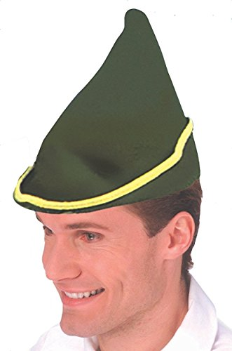 Forum Novelties Men's Deluxe Elf Hat, Green, One Size - Adult Deluxe Peter Pan Costumes