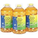 Pine-Sol All Purpose Cleaner - Liquid Solution - 144 fl oz (4.5 quart) - 3 / Carton - Lemon Scent - Yellow