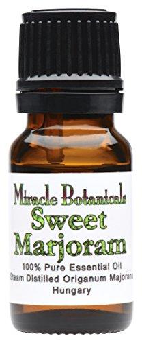 Miracle Botanicals Sweet Marjoram Essential Oil - 100% Pure Origanum Majorana - Therapeutic Grade - 10ml