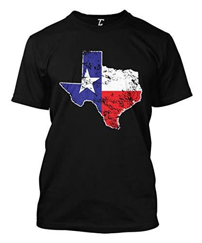 Texas State Flag Map - USA Men's T-Shirt (Black, Large) (Women Looking For Men In San Antonio)