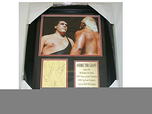 WWF Andre The Giant Autographed Reprint 8x10 Photo Vs. Hulk Hogan Framed - Autographed Wrestling - Giant The Andre Photos