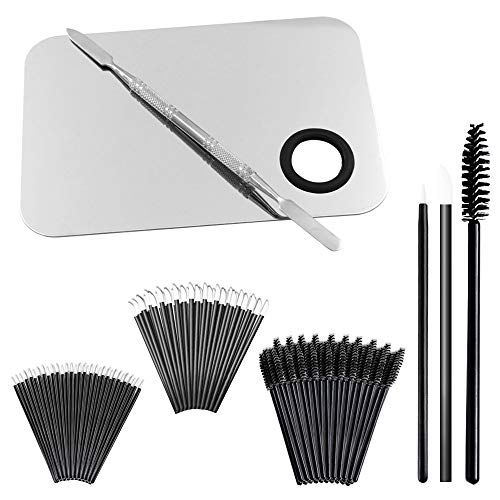 "Professional Makeup Palette with Spatula and 150 Pieces Makeup Brush Kit, SourceTon Cosmetic Palette (5.8""x 3.9"") & Makeup Applicators (Mascara Wands, Lipstick Applicators, Fine Eyeliner Brush)"