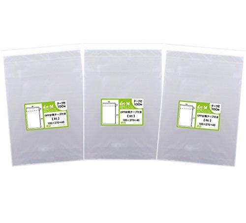 【 국산 】 테이프 딸린 B5 【 B5 용지DM 용 】 투명 OPP 봉투 (투명 봉투) 【 300 장 】 30 미크론 두께 (표준) 195x270 + 40mm / 【Domestic】With Tape B5 [B5 Paper  For D