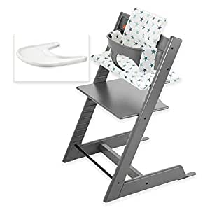 Stokke tripp trapp high chair complete bundle for Stokke tripp trapp amazon