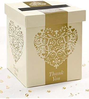Vintage Romance boda tarjeta buzón de correos [color: dorado]: Amazon.es: Bricolaje y herramientas