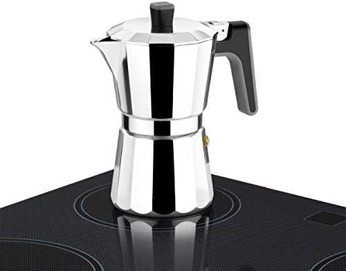 BRA Perfecta – Cafetera Italiana Inducción, Aluminio, capacidad 9 ...