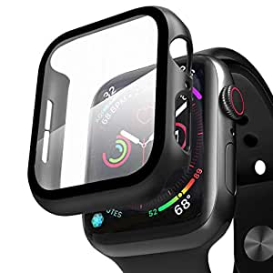 Compatible with Apple Watch Case Series 3 with Screen Protector 38mm, Beautyshow Overall Protective Cover Case for iWatch Series 1/2/3, 38mm