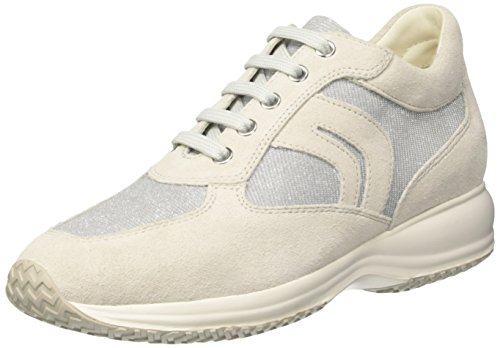 Sneakers Hautes C White Happy Gris Femme Greyc0856 lt off Geox vOwxE5qtw