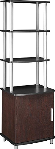 - Ameriwood Home Carson Audio Stand, Cherry/Black