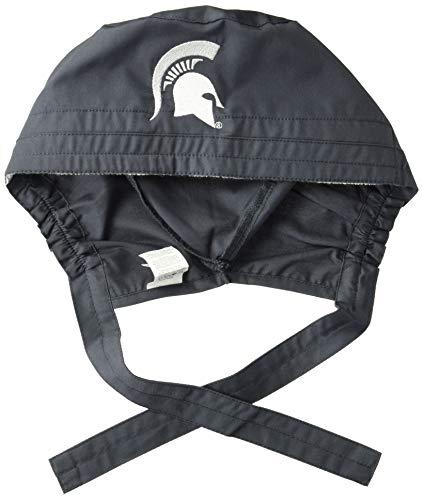 WonderWink Men's Michigan State University Scrub Cap, Pewter, 1SZ