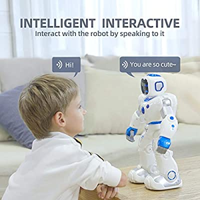 Ruko Smart Robots for Kids, Large Programmable Interactive RC Robot with Voice Control, APP Contol, Present for 4 5 6 7 8 9 Years Old Kids Boys and Girls: Toys & Games