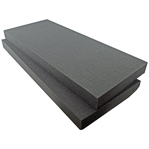 SRA Cases EN-AC-FG-C402-FOAM-CB 2 Pre-Scored Foam Blocks Insert for EN-AC-FG-C402, 26.3 x 11.2 x 2', Grey
