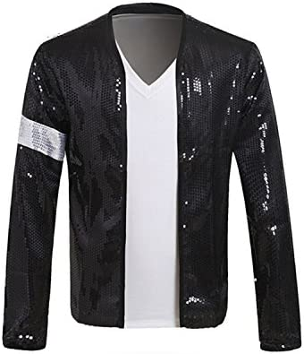 Adults Billie Jean Jacket Costume with Glove in Many Sizes