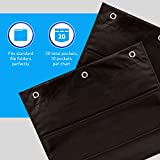 2-Pack Premium Wall Storage Pocket Charts/Hanging