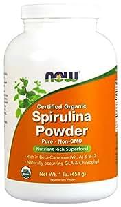 NOW Organic Spirulina Powder,1-Pound