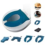 THREE LITTLE TOTS - Modern and Safe Portable Potty Seat, Dark Teal Folding Travel Potty Training Seat for Girls and Boys, Fits Round and Oval Toilets, On The go or at Home, Includes Travel Bag: more info