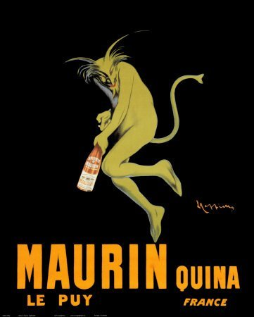 EuroGraphics Maurin Quina le Puy - Green Devil, c. 1906 by Leonetto Cappiello. Vintage French Advertising Reproduction Poster (16 x 20)