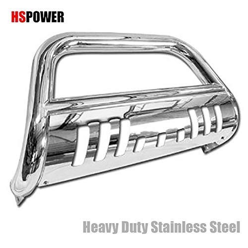 HS Power Chrome S/S Bull BAR Brush Push Bumper Grill Grille Guard for 04-15 Titan/Armada