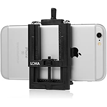 iPhone Tripod Adapter by LOHA , Cell Phone Tripod Adapter and Selfie Stick Mount - Compares to Joby Griptight
