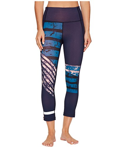 Under Armour Women's Mirror High-Rise Printed Crop Midnight Navy/Bayou Blue/Tonal Pants ()