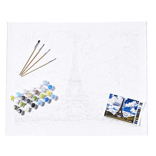 Everything Eiffel – Modern Monet Paint by Numbers Kits for Adults, 16×20