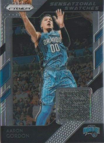 Aaron Gordon player worn jersey patch basketball card (Orlando Magic) 2019 Panini Prizm ()