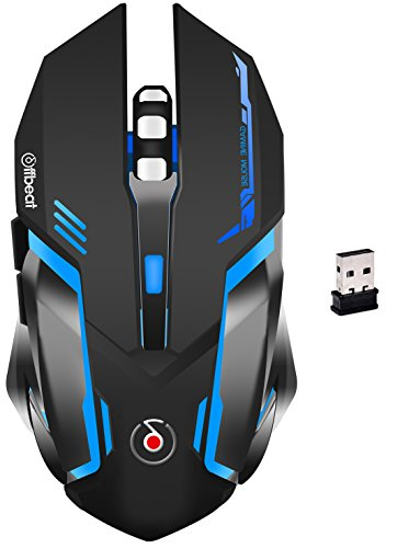 Offbeat RIPJAW 2.4Ghz Rechargeable Wireless Gaming Mouse – 7D Buttons, DPI : 1600,2400,3200, Mice for PC Laptop (Without Mouse pad)