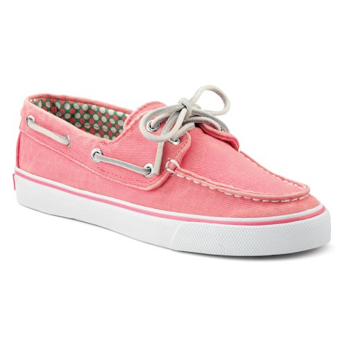 Sperry Top-sider Womens Bahama 2-eye Båt Sko Rosa Lerret