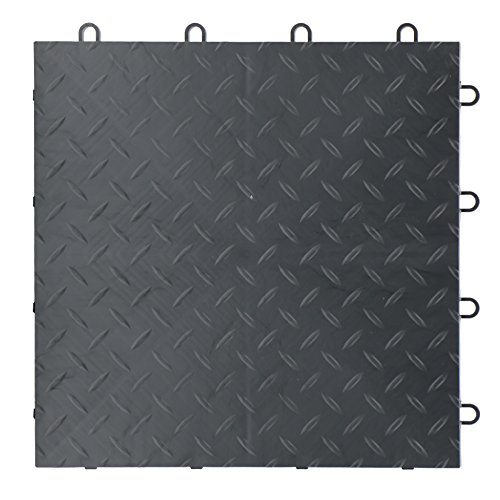 TrueLock HD Extreme Diamond Garage Floor Tiles. Made in USA. … (Graphite) (Tiles Tread Floor Garage)