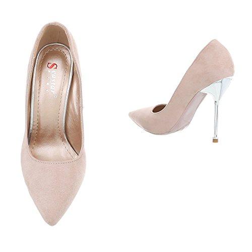 High Beige Schuhe Heels Damen Schuhcity24 Pumps qw6nAtcX